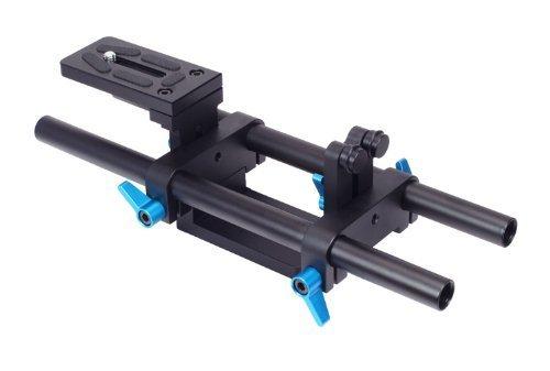 FOTGA DP500 II DSLR 15mm Rail Rod Base Plate Support System for Follow Focus Matte Box,DSLR DV Camera 5D II III IV A7 A7R A7S II III GH4/5/5S Blackmagic Cine Camera 4K by FOTGA