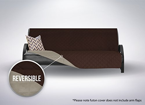 The Original SOFA SHIELD Reversible Furniture Protector, Features Elastic Strap (Futon: Chocolate/Beige)