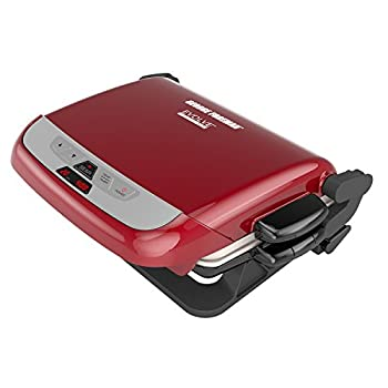 Image of George Foreman 5-Serving Multi-Plate Evolve Grill System with Ceramic Plates and Waffle Plates, Red, GRP4842RB Home and Kitchen