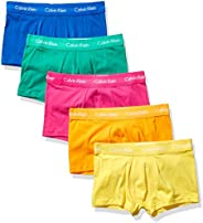 Calvin Klein Mens Cotton Stretch Multipack Low Rise Trunks Pride Pack Trunks