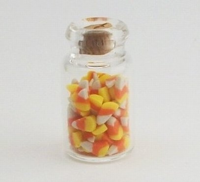 112 jar of candy corn halloween dollhouse miniature scale food