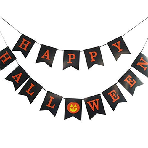 Hallloween Party Decoration Happy Halloween Letter Banner Flag
