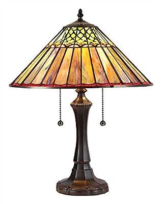 "Chloe Lighting CH35002BG16-TL2 Grace Tiffany-Style Table Lamp with 16"" Shade 21.5 x 16.14 x 16.14"" Bronze"