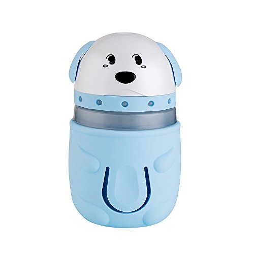 David Priser 165ml Mini USB Humidifier Ultrasonic Mist Air Purifier Diffuser, Puppy shaped with Colorful Night Light, Automatic Shut Off Whisper-Quiet Operation for Home Bedroom Car Office Kids(Blue)