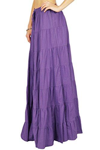 conception de avec la Coton femmes Phagun serrage taille de cordon Violet Ethnique Summer Jupe 460zYqnwXq