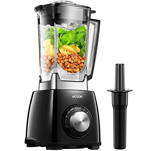 AICOOK Blender, Professional Countertop Blender 72oz Dishwasher Safe Jar 1450W High Speed Smoothies Blender for Ice Crushing Frozen Fruits with 4 Preset