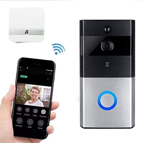 ビデオドアベル、ワイヤレススマートWiFiドアベルカメラ、HDドアミラーカメラ、ドアベルナイトビジョン、PIRモーション検出、双方向通話(バッテリーなし)