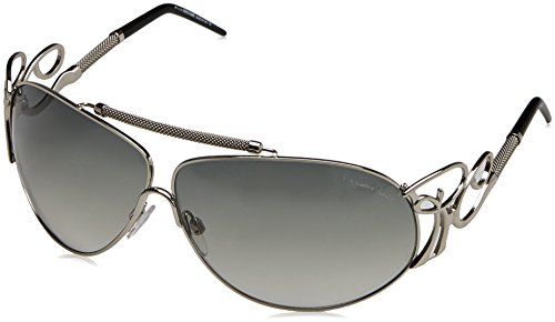 Roberto Cavalli RC 850 Beid E98 Shiny Silver Fashion Aviator Sunglasses (Cavalli Roberto Lens Silver)