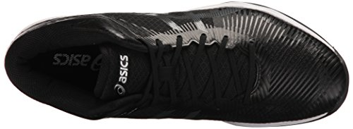 ASICS Mens Volley Elite FF MT Volleyball Shoe, Black/Dark Grey/White, 7.5 Medium US
