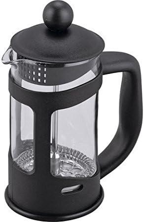 Cafetera de émbolo para 3 tazas (con filtro extraíble, se puede lavar en el lavavajillas), color negro: Amazon.es: Hogar