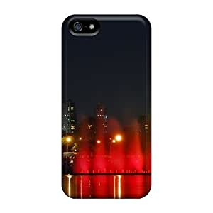 Ideal GoldenArea Case Cover For Iphone 5/5s(christmas City Holidays), Protective Stylish Case