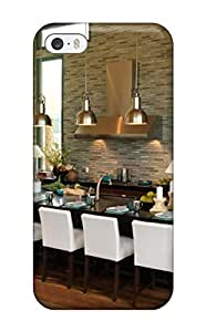 Pretty JGBxoPI7434MwReV Iphone 5/5s Case Cover/ Modern Kitchen With Black Island And Tile Wall Series High Quality Case