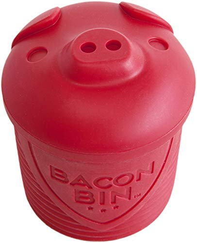 (Talisman Designs 5300 Bin Bacon Grease Strainer and Collector, Red)
