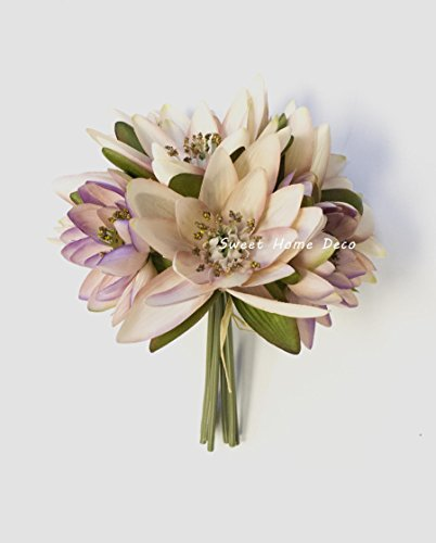 Sweet-Home-Deco-9-Silk-Lotus-Flower-Bouquet-6-Stems6-Flower-Heads-for-Wedding-Home-Decoration-MauvePink