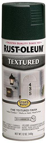 Rust-Oleum 7222830 Textured Spray Paint, 12 oz, Forest - Stops Spray Green Rust