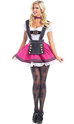 Be Wicked Women's 3 Piece Swiss Beauty, Hot Pink/Brown, L...