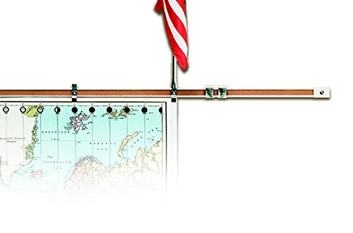 Length Display Rail - Best-Rite 510 Map Hook for Map/Display Rail, 2