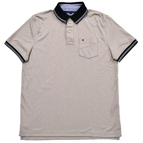 d5ae21006 Tommy Hilfiger Mens Custom Fit Interlock Pocket Polo Shirt (Medium ...
