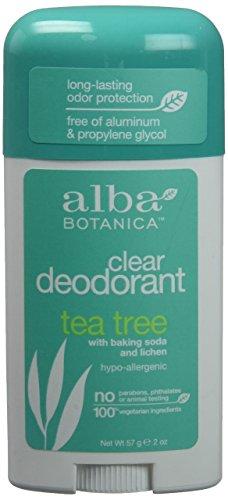ALBA BOTANICA STICK DEOD,TEA TREE, 2 OZ, 3 pack