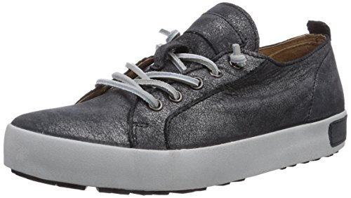 Blackstone Womens JL20 Leather Sneaker Black Graphite Full Grain Leather