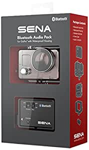 Sena GP10-02 Bluetooth Pack for GoPro with Waterproof Case Motorcycle Communication System, Black