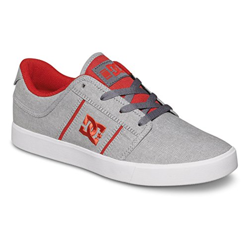 DC Men's RD Grand TX SE Skate Shoe, Grey/Red, 6 M US (Dc Dyrdek Skate Shoes)