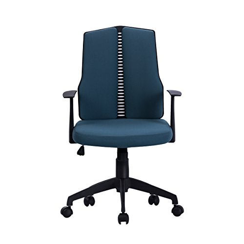 Sunmae Ergonomic Mid-Back Task Chair, Office Chair, Adjustable Computer Desk Swivel Chair - Dark Blue by Sunmae