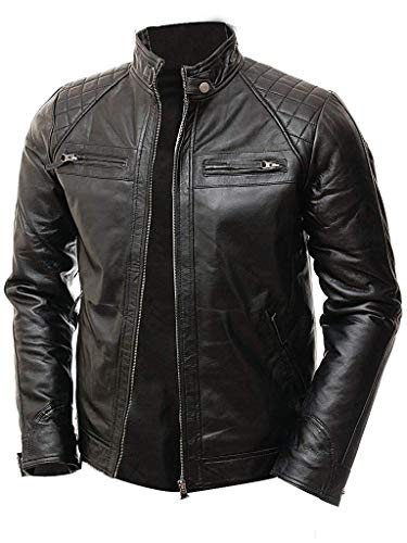 quilted biker jacket mens - 7