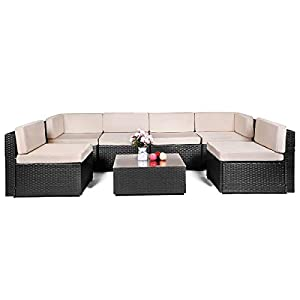 41z2nMbGDoL._SS300_ 100+ Black Wicker Patio Furniture Sets For 2020