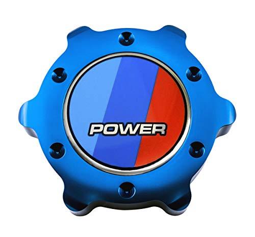 VMS RACING BLUE OIL CAP Power BBR Emblem in Billet Aluminum Compatible with E21 E30 E36 E46 E83 E90 E92 E93 M3 X3 SAV 3 Series 318i 320i 323i 325ci 325es 325iX 328i 335i 75-13 1975-2013 (Best Oil For E36 M3)