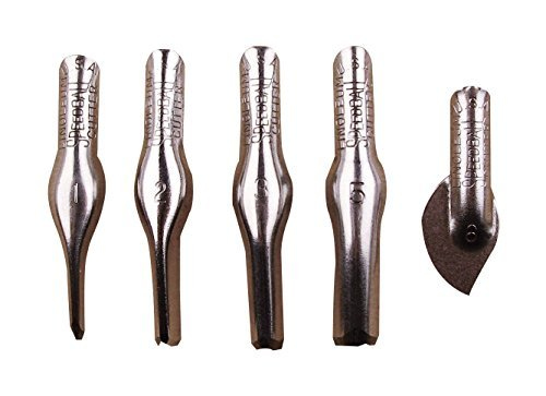Speedball Linoleum Cutters - 5 Assorted Carving Printmaking Cutter Types, Made in the USA ()