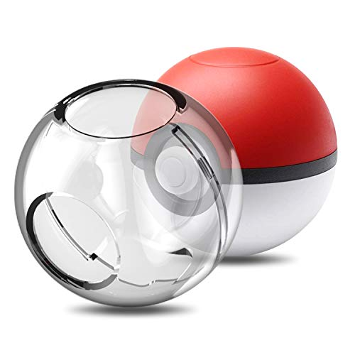YUANHOT Protective Case for Nintendo Switch Pokeball Plus Controller, Accessories Hard Cover Case for Switch Pokeball, Childern Kids Poke Ball Plus Pikachu Eevee Case (Clear (Best Phone Case Manufacturers)