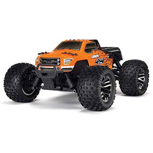 ARRMA Granite 4x4 3S BLX Brushless 4WD RC Monster Truck RTR (LiPo Battery Required) with 2.4GHz Radio | 1:10 Scale (Orange/Black)