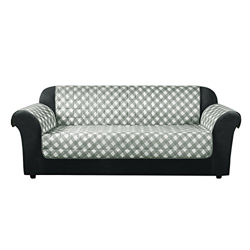 SureFit Furniture Flair - Sofa Slipcover - Gingham Plaid
