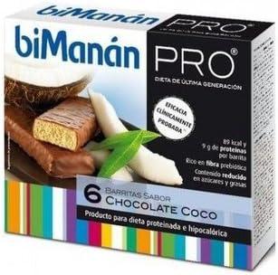 Barritas De Chocolate Y Coco 6 Barritas de Bimanan: Amazon.es ...