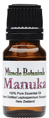 Miracle Botanicals Wildcrafted Manuka Essential Oil - 100% Pure Leptospermum Scoparium - Therapeutic Grade - 10ml