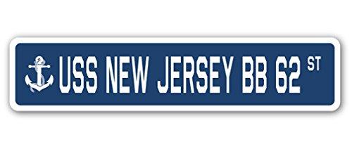 USS New Jersey BB 62 Street Sign us Navy Ship Veteran Sailor - Usa Jersey Bb