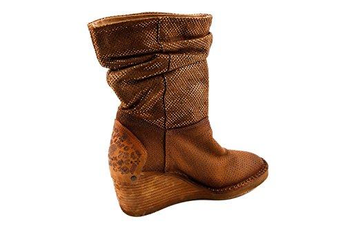 de Felmini marrón A966 Marrón A966 FM1 para Lisa Botas Piel Mujer 032 IrwOHPqCr