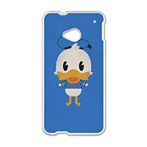 HTC One M7 Cell Phone Case White Donald Duck 001 HIV6755169491681