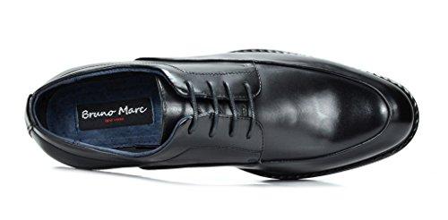 Bruno Marc Heren Prime-1 Leer Gevoerde Jurk Oxfords Schoenen Zwart