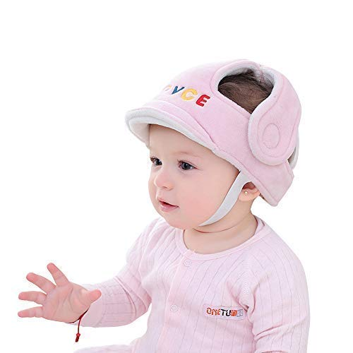 Baby Adjustable Safety Helmet Infant Head Protector Breathable Headguard for Toddlers Learn to Walk(Pink) (Guard Baby Head)