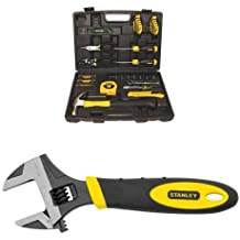 Stanley 94-248 65-Piece Homeowner's Tool Kit w/ 90-947 6-Inch MaxSteel Adjustable Wrench