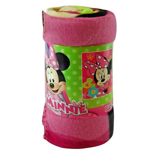 Fleece Throw - Disney - Minnie Mouse - Flower Pop 45''x60'' Blanket