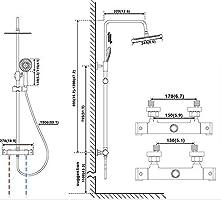 Aurho columna de ducha conjunto de ducha set de ducha tipo columna ...