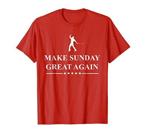 Make Sunday Great Again Funny Golf T-shirt -