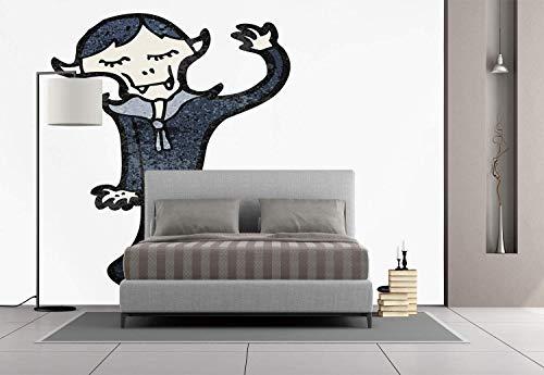 Funky Wall Mural Sticker [ Vampire,Retro Cartoon Old