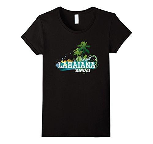 Womens Lahaina Maui Hawaii T-shirt Summer Beach Vacation Tee XL - Shops Maui Lahaina