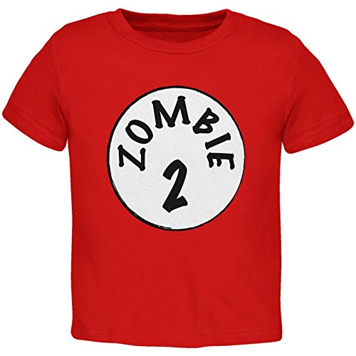 Halloween Zombie 2 Two Costume Red Toddler T-Shirt - 2T