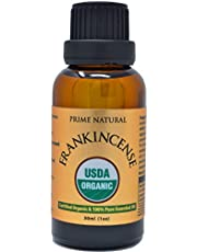 Organic Frankincense Essential Oil 30ml / 1oz - USDA Certified - Boswellia Serrata Natural Pure Undiluted Therapeutic Grade for Aromatherapy Scents Skin Face Care Relaxation Calming
