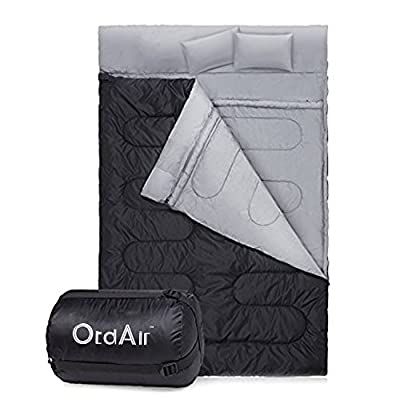 OtdAir Double Sleeping Bag/Mummy Sleeping Bag Waterproof Lightweight Sleeping Bag for Camping, Backpacking, Hiking,Travel